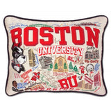Boston University Embroidered Pillow