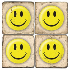 Smiley Face Drink Coasters