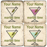 Martini Time Drink Coasters