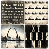 St. Louis B&W Drink Coasters