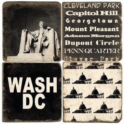 Washington D.C. B&W Drink Coasters