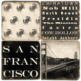 San Francisco B&W Drink Coasters