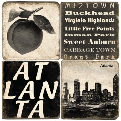 Atlanta B&W Drink Coasters