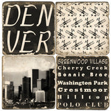 Denver B&W Drink Coasters