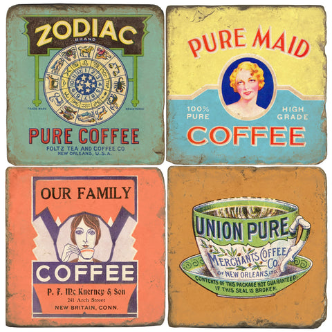 Coffee Labels Drink Coasters