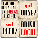 Drink Local Drink Coasters