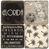Florida B&W Drink Coasters