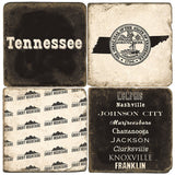 Tennessee B&W Drink Coasters