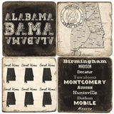 Alabama B&W Drink Coasters