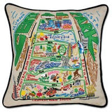 Central Park Hand-Embroidered Pillow