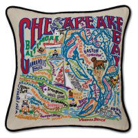 Chesapeake Hand-Embroidered Pillow