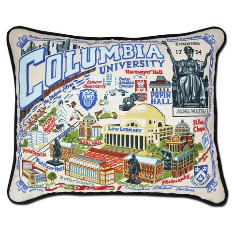 Columbia University Collegiate Embroidered Pillow