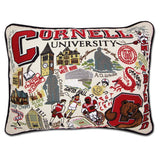 Cornell University Collegiate Embroidered Pillow