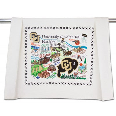 Boulder University of Colorado Collegiate Dish Towel