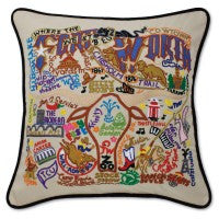 Ft. Worth Hand-Embroidered Pillow