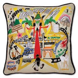 Hollywood Hand-Embroidered Pillow