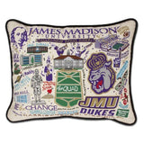 James Madison University Collegiate Embroidered Pillow