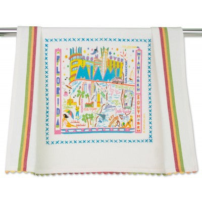 Miami Dish Towel