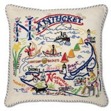 Nantucket Hand-Embroidered Pillow