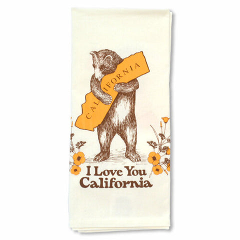I Love You California Tea Towel