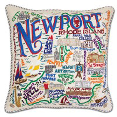 Newport Hand-Embroidered Pillow