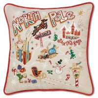 North Pole Hand-Embroidered Pillow 1