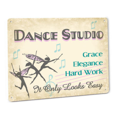 Dance Studio Metal Sign