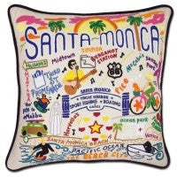 Santa Monica Hand-Embroidered Pillow