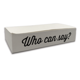 Who Can Say? Notepad