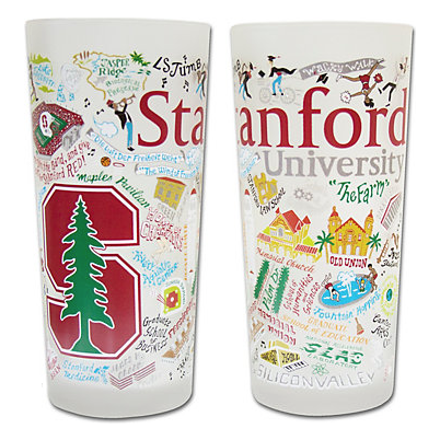 Stanford Collegiate Frosted Glass Tumbler