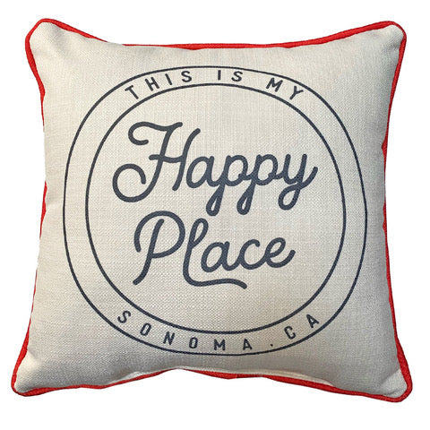 Sonoma Happy Place Seal Pillow