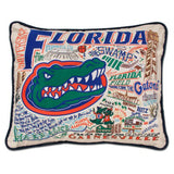 Florida University Collegiate Embroidered Pillow