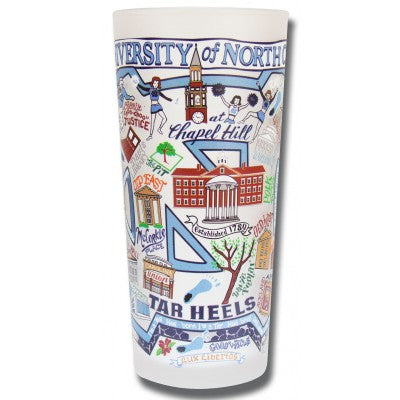 University of North Carolina  Collegiate Frosted Glass Tumbler