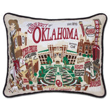 University of Oklahoma Collegiate Embroidered Pillow