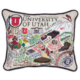 University of Utah Collegiate Embroidered Pillow