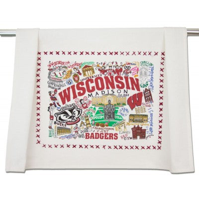 University of Wisconsin Collegiate Dish Towel