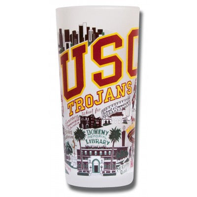 USC Collegiate Frosted Glass Tumbler