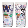 University of Washington Collegiate Frosted Glass Tumbler