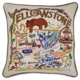 Yellowstone Hand-Embroidered Pillow