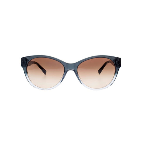 Black to Crystal Gradient Cateye Sunglasses