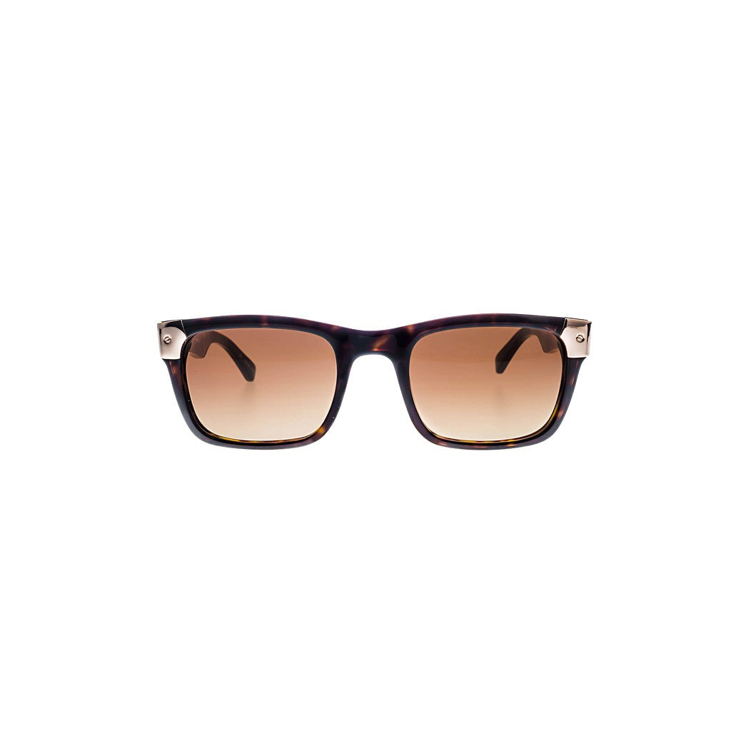 Shiny Tortoise with Rose Gold Metal Wayfarers Sunglasses