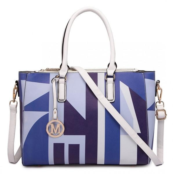 DIGITAL PRINT HANDBAG NAVY