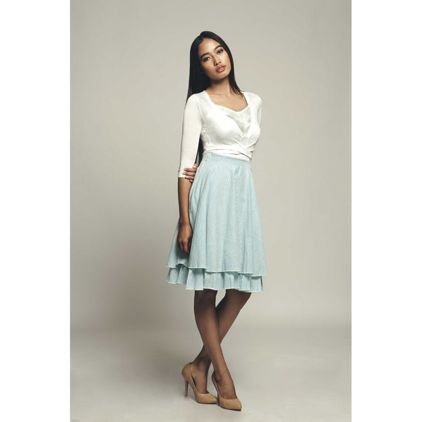 Karley Ruffle Edge handwoven Cotton Skirt