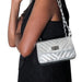 Marlafiji -  Aline Silver Italian leather shoulder bag