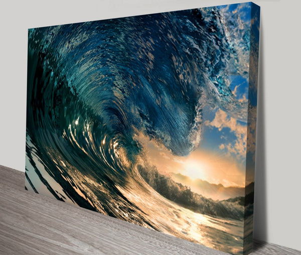 Prints On Canvas - Crystal Wave - AlsoKnownAs Lifestyle Collection