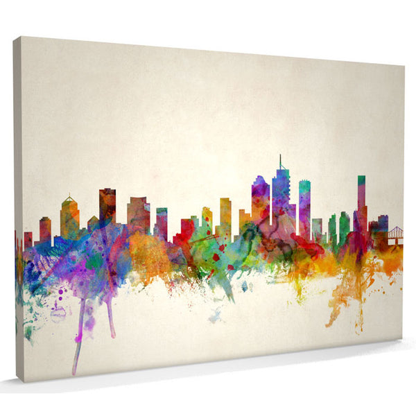 Brisbane City Skyline Canvas Print - AlsoKnownAs Lifestyle Collection