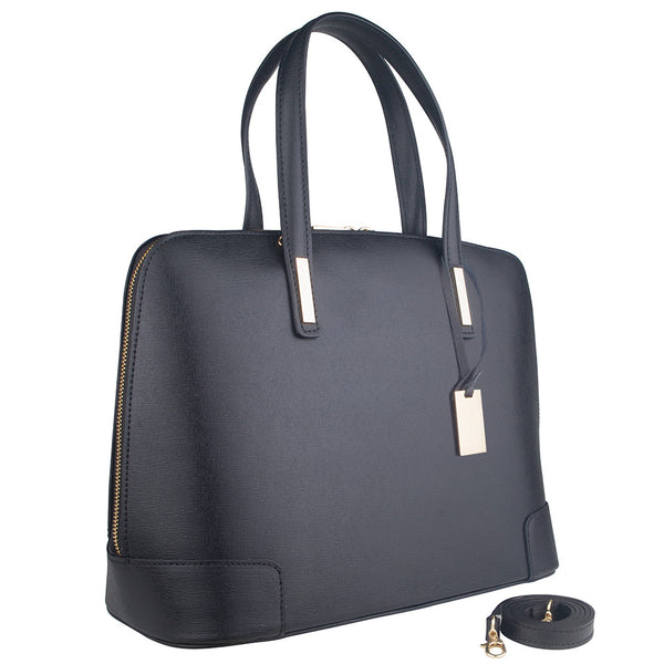 Marlafiji - Fiona Black leather bag
