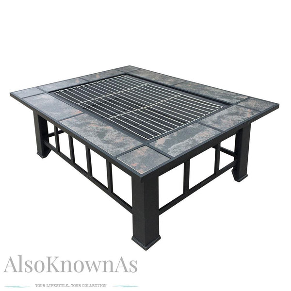 2 in 1 Outdoor Grilling Table and Fire Pit