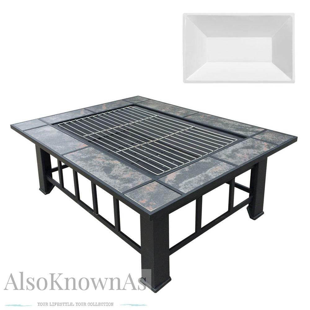 3 in 1 Outdoor Grilling Table and Fire Pit