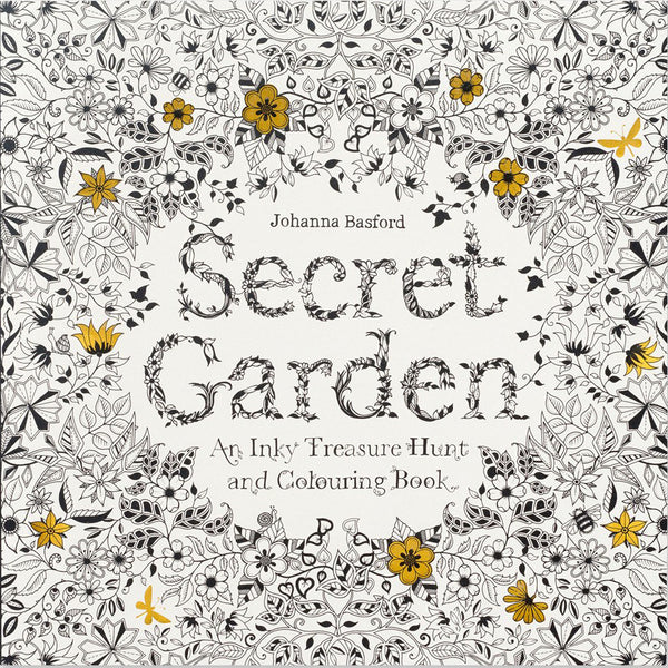Secret Garden: An Inky Treasure Hunt Colouring Book by Johanna Basford